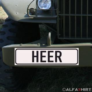 Magnetschild Heer Bundeswehr BW für KFZ Fahrzeuge Kübel Iltis Wolf A155