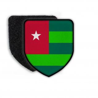 Patch Flagge von Togo Landesfahne Landesflagge Wappen Zeichen Land Nation #21452