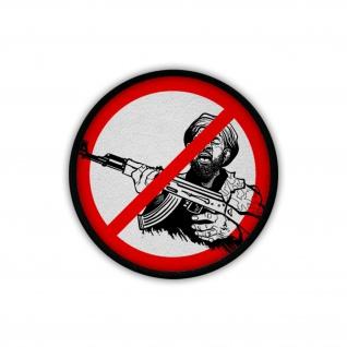 Patch / Aufnäher - NEIN zu Terroristen Verbot ISAF Polizei Security #19844
