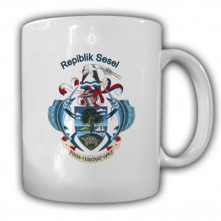 Republik Seychellen Wappen Emblem Kaffee Becher Tasse #13895