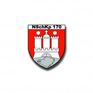 Aufkleber/Sticker NSchKp 170 Wappen BW Militär Heer Nachschub 7x6cm A1036