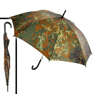 Bundeswehr Regenschirm Flecktarn Regen Stock Spazierstock Umbrella #17165 - Vorschau