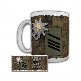 Tasse Gebirgstruppe Stabsgefreiter 1 Gebirgsdivision Schulterabzeichen #29589