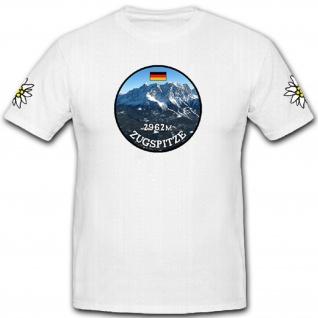 Zugspitze - höchste Berggipfel Deutschlands Wettersteingebirge - T Shirt #11140