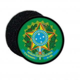 Patch Brasil Brasilien República Federativa Rio Abzeichen Wappen Aufnäher#33903
