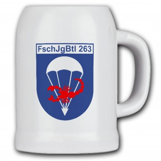 Krug/Bierkrug 0, 5l - FschJgBtl 263 Fallschirmjäger Niederauerbachkaserne #14867