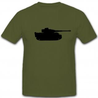 Tiger Panzer Silhuette- T Shirt #5785