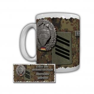 Tasse Cyber- und Informationsraum Stabsgefreiter Attacken Bundeswehr #29396