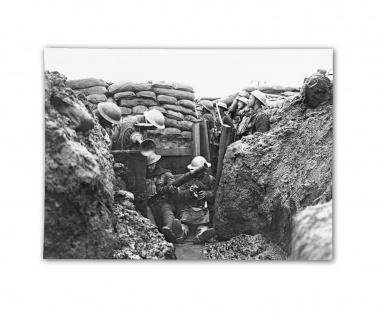 Poster Britischer Schützengraben an der Westfront Ärmelkanal ab 30x22cm #31056