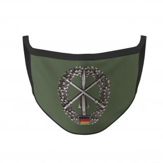 Mundmaske Heeresflugabwehrtruppe Barett Abzeichen Bundeswehr #35590