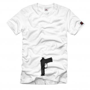 Pistole im Gürtel Karneval Fasching Verkleidung Kostüm - T Shirt #413