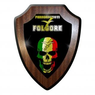 Wappenschild / Wandschild -Folgore PARACADUTISTI Italien Fallschirmjäger #9836