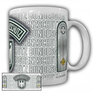 Tasse Oberleutnant BGS Bundesgrenzschutz Polizei Wappen Abzeichen Adler #23687