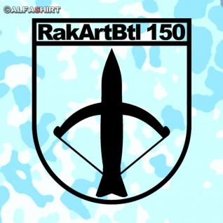 Aufkleber/Sticker RakArtBtl 150 Raketen Artillerie Bataillon BW 15x13cm #A406