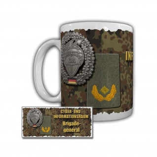 Tasse Cyber- und Informationsraum Brigadegeneral Bundeswehr#29413