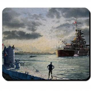 Bismarck Schiff Schlachtschiff deutsche Marine U 47 U-Boot WK 2 - Mauspad #8587