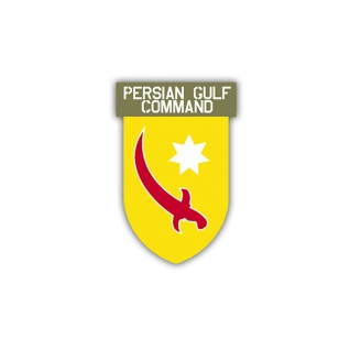 Aufkleber/Sticker Persian Gulf Command US Army USA Amerika 7x4, 5cm A1104