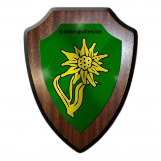 Wappenschild 6 Gebirgsdivision Großverband Heer Wappen Abzeichen Heuberg #31590
