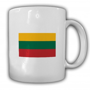 Republik Litauen Lietuvos Respublika Fahne Flagge - Tasse #13690