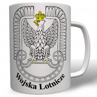 POL Wojska Lotnicze Luftwaffe Einheit Wappen Abzeichen Tasse #16675