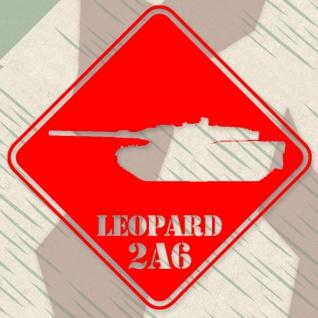 Aufkleber/Sticker Leopard Panzer Deutschland BW Militär 20x20 cm #A284