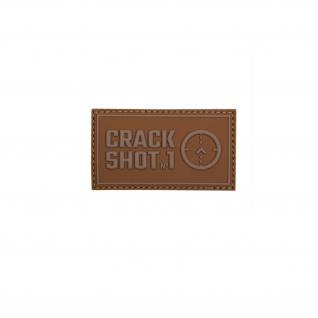3D Rubber Crack Shoot No1 Patch Alfashirt Airsoft Aufnäher 7 x 4 cm#26986