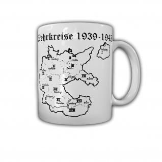 Tasse Wehrkreise Deutschland 1939-1945 Berlin Königsberg Breslau Wien #30056