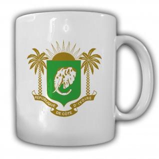 Elfenbeinküste Wappen Emblem République de Côte - Tasse Kaffee #13469