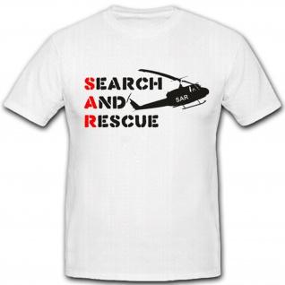 Sar Suche Und Rettung Bundeswehr Einheit Luftwaffe Helicopter T Shirt #2164