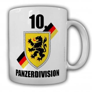Tasse 10 Panzerdivision PzDiv Panzer Division Bundeswehr Abzeichen Wappen #24477