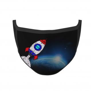 Mund Maske Space Weltraum Erde Rakete Raumfahrt Astronaut Kinder #36011