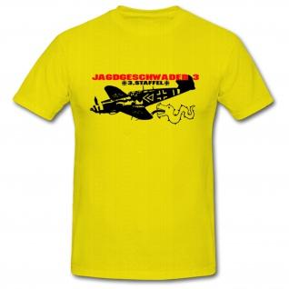 Jagdgeschwader JG 3 Staffel 3 Luftwaffe Militär WK 2 Ernst Udet - T Shirt #1054