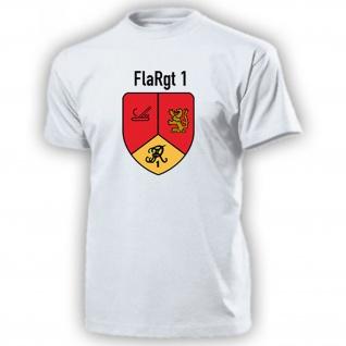 FlaRgt 1 Flugabwehrregiment 1 Bundeswehr Wappen Abzeichen T Shirt #16933