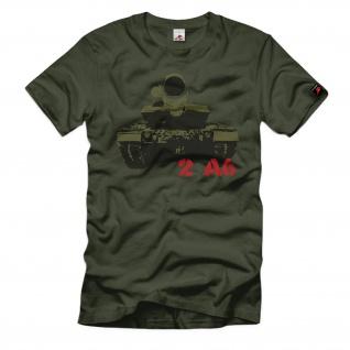 Panzer Leopard 2 A6 Bundeswehr Turm Front getarnt T-Shirt T-Shirt #366