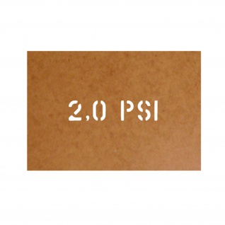 2, 0 PSI Reifendruck Stencil Ölkarton Lackierschablone 2, 5x11cm #15243
