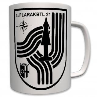 4 FlaRakBtl 21-Bundeswehr Wappen Abzeichen - Kaffee Tasse #7780