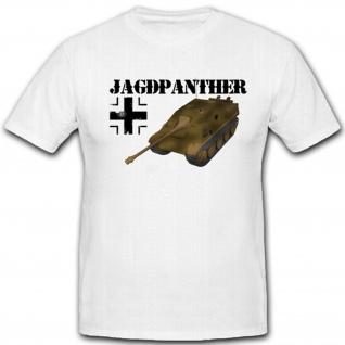 Jagdpanther WK Panzer Heer Balkenkreuz Geschütz Waffe Militär - T Shirt #4224