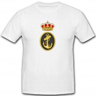 Spanische Armee Wappen Marine Espana Navy Krone Emblem Abzeichen - T Shirt #7328