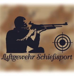 Sticker Aufkleber Luftgewehr Schießsport Sportschütze Schütze 26x16cm A078