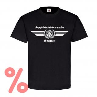 Gr. L - SALE Shirt SEK Sachsen altes Logo Spezialeinsatzkommando Logo #R497