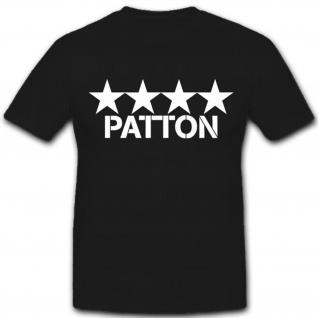 4 Sterne General Patton-Us Army Armee Amerika- T Shirt #8067