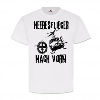 Heeresflieger nach vorn Bundeswehr Huey Bell UH-1 D Hubschrauber BWT-Shirt#23779