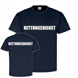 RETTUNGSDIENST Sanitäter Helfer Mediziner Doktor Retter Arzt T-Shirt #24361