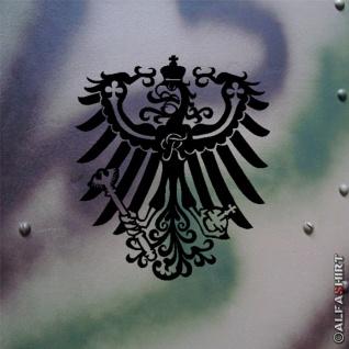 Aufkleber/Sticker Preußen Adler Deutschland Alter Fritz 15x12cm weiß #A279