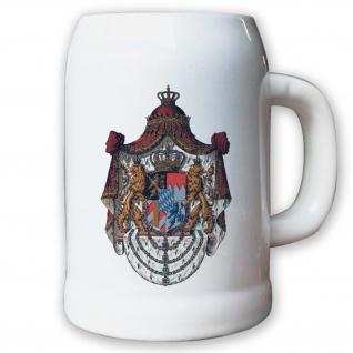 Krug / Bierkrug 0, 5l - Königreich Bayern München Monarchie Herzog Adel #9446 K
