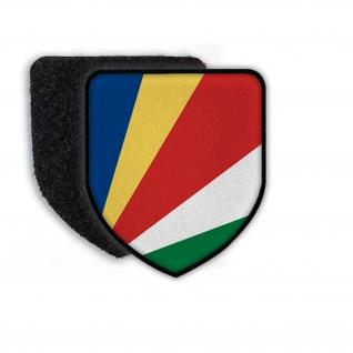 Patch Flagge von Seychelles Landeswappen Wappen Flagge Land Stadtwappen#21702