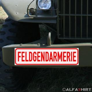 Magnetschild Feldgendarmerie Feldjäger Militär Polizei für KFZ Fahrzeuge #A173