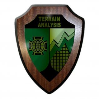 Wappenschild / Wandschild -Terrain Analysis Topographiebatterie Wappen #18698