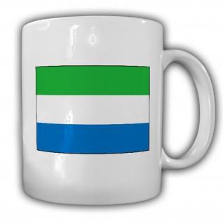 Republik Sierra Leone Fahne Flagge Kaffee Becher Tasse #13896