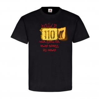 Wähle 110 wir sind für jeden Spass zu haben Fun Tasse Polizei Bullen Humor 21003